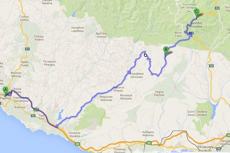 Mapka obranej przez nas trasy