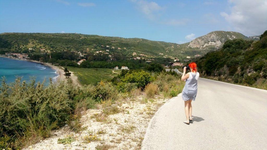 W drodze do Skala - widok na Katelios