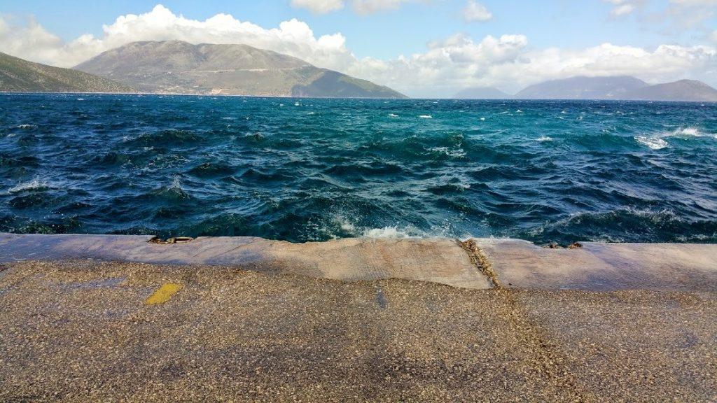 Morze było bardzo wzburzone