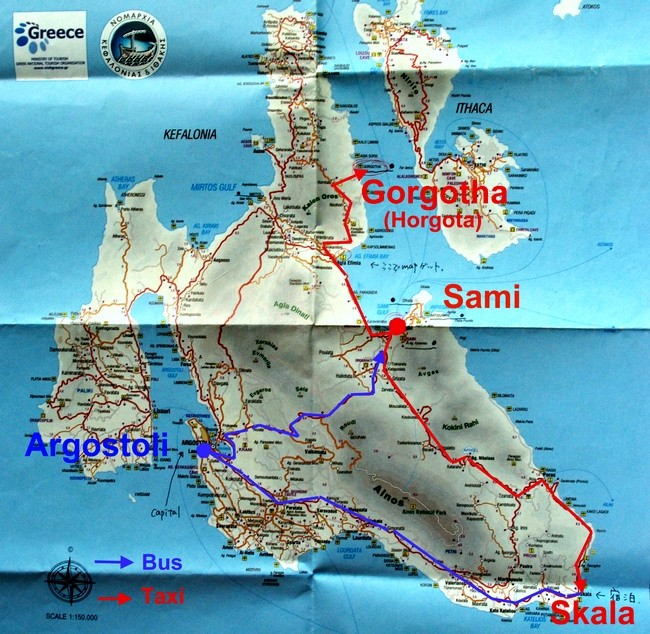 Mapa Kefaloni